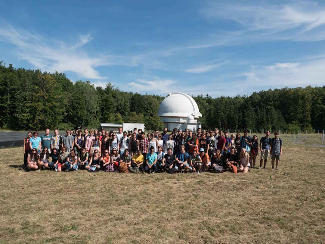 Participants visiting an observatory in 2015
